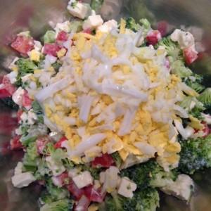 broccoi feta salad